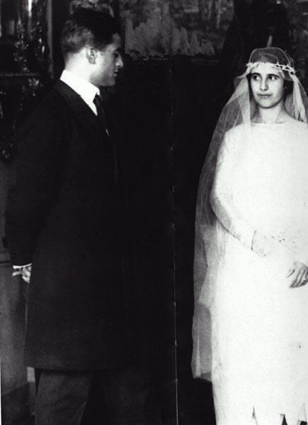 No casamento de Luciana Frassati em 1925